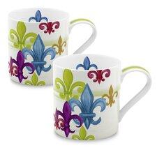 12 oz. Fleur de Lis Mug (Set of 2)