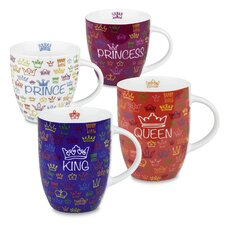 Royal Family King, Queen, Prince and Pricess Mug (Set of 4)
