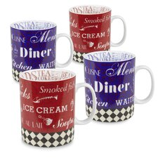 15 oz. American Diner Mug (Set of 4)