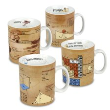 Assorted Science 15 oz. Mugs 4 Piece Set