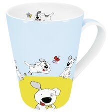 Animals Globetrotter Dog Mug (Set of 4)