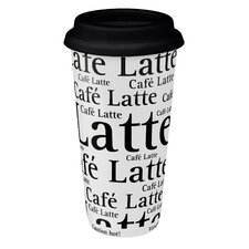 Large Travel Writing Mug in White (Set of 4)