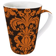 Gift for All Occassions Rocaille Mug in Orange (Set of 4)