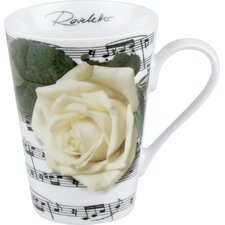 Gift for All Occassions Roseletter Mug in White (Set of 4)