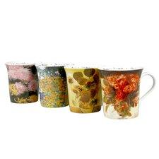 Assorted Les Fleurs Chez 12 oz. Mug (Set of 4)