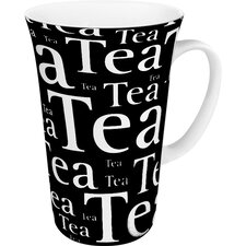 Tea Writing Mega Mug in Black (Set of 4)