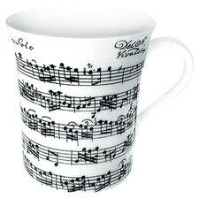 Art Vivaldi Libretto Mug in White (Set of 4)