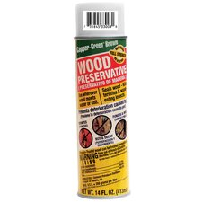 14 Oz. Green Brown Wood Preservative Spray