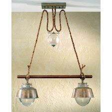 <strong>Lustrarte Lighting</strong> Nautic Amarras Two Light Chandelier