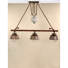 Nautic Amarras Three Light Island Chandelier