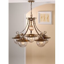 Rustik Aranha Six Light Chandelier