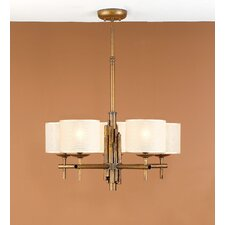 Rustik Bambu Five Light Chandelier