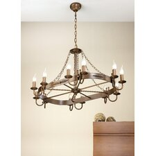 Rustik Medieval Twelve Light Chandelier