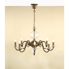 Classic Etrusca Eight Light Chandelier