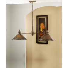 Rustik American Coop Two Light Chandelier