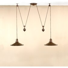 Rustic D'Avo 2 Light Kitchen Island Pendant