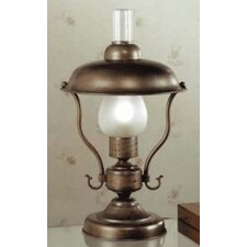 "Rustik Mambo 18.11"" H Small Table Lamp with Bowl Shade"