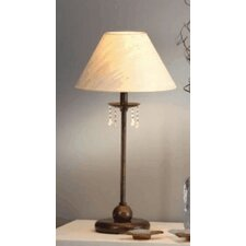<strong>Lustrarte Lighting</strong> Classic Missangas 1 Light Small Table Lamp