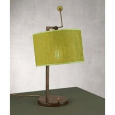 """Contemporary Cork 24.5"""" H Table Lamp with Drum Shade"""