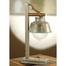 "Nautic Amarras 23.23"" H Table Lamp with Bell Shade"