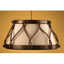 <strong>Lustrarte Lighting</strong> Rustik Tambor 4 Light Drum Pendant