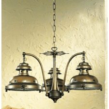 Nautic Escotilha Three Light Chandelier