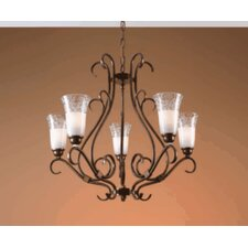 Classic Opala Five Light Chandelier