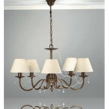 Classic Missangas Five Light Chandelier