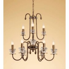 <strong>Lustrarte Lighting</strong> Classic Class Nine Light Chandelier