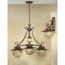 Rustik Aranha Four Light Chandelier