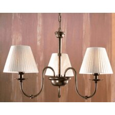 <strong>Lustrarte Lighting</strong> Classic Obidos Three Light Chandelier