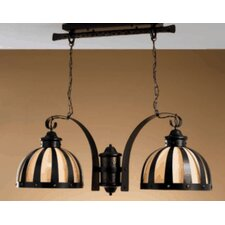 Rustik Armada Two Light Chandelier