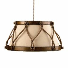 Rustik Tambor 1 Light Large Drum Pendant