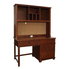 "Woodridge 53"" W Writing Desk with Hutch"