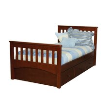 Mission Twin Slat Bed with 3 Drawer Under Bed Case