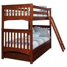 <strong>Bolton Furniture</strong> Mission Twin Over Twin Standard Bunk Bed with 2 Storage Drawers