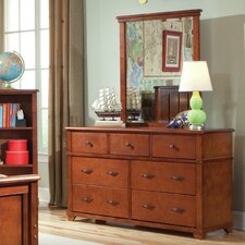 Woodridge 7 Drawer Dresser with Mirror