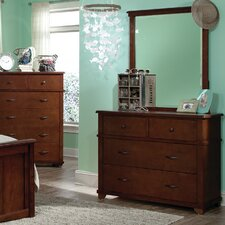 <strong>Bolton Furniture</strong> Woodridge 4 Drawer Dresser with Mirror