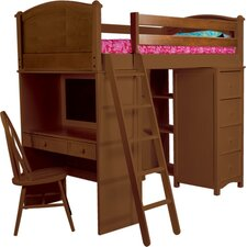 <strong>Bolton Furniture</strong> Cooley Sleep Study Storage Loft Bed
