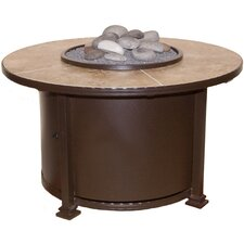 "Casual Fireside Santorini 42"" Round Fire Pit with Sand Tile"