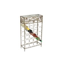 Jewelled Metal Wine Rack
