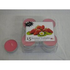 Strawberry Tealight Candles (Set of 15)