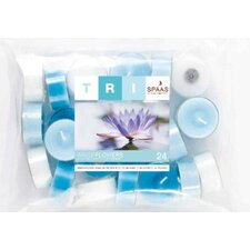 Water Flowers Scented Tealight Candles (Set of 24)