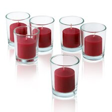 Red Apple Cinnamon Scented Votive Candles (Set of 12)
