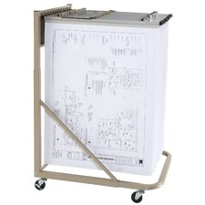 Vertical Mobile Rack Filing Cart