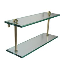 <strong>Allied Brass</strong> Universal Double Bathroom Shelf