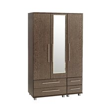 New York 3 Door Wardrobe with 4 drawers and mirror