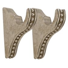 <strong>Menagerie</strong> Compatible Drapery Beaded Curtain Bracket (Set of 2)