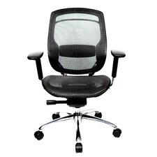 1 Series Mid-Back Mesh Office Chair with Pivot Armrests