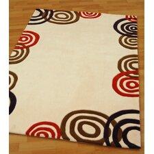 Sphere Cream / Chocolate Tufted Rug